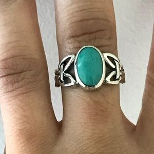 Jewelry - Sterling Silver Celtic Turquoise Ring
